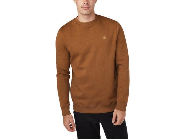 tentree Standard T-shirt manches longues à col ras-du-cou Homme, rubber brown heather